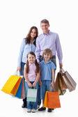 Familien mit taschen — Stockfoto