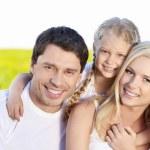 lycklig familj — Stockfoto