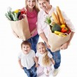 Family with shopping - Stock Photo