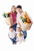 Family with shopping — Stock Photo