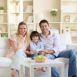 Smiling family — Stock Photo