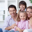 Foto Stock: Family home
