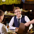 Royalty-Free Stock Photo: Young men in a restaurant
