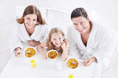 Family with child — Stock Photo