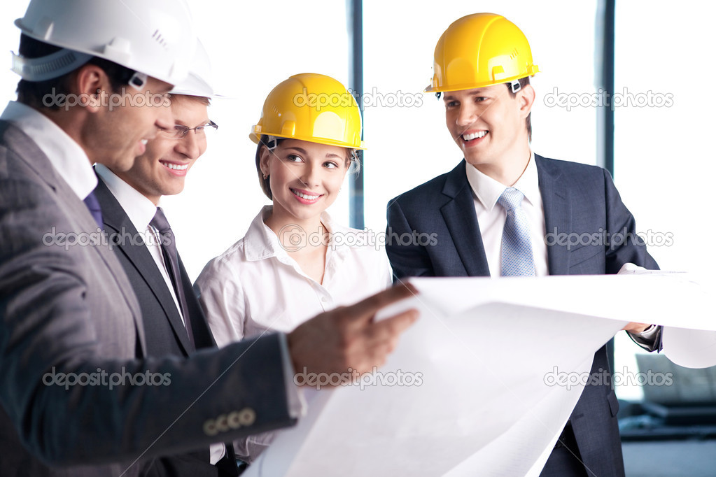 In helmets on a construction site — Stockfoto #6462616