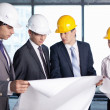 Stock Photo: Discussion on construction site