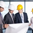 Royalty-Free Stock Photo: Discussion on the construction site