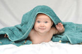 Smiling Baby after Bath — Stock Photo