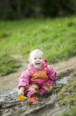 Happy Muddy Child — Stock Photo