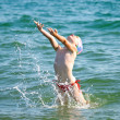 Swimming girl — Stock Photo #6117293