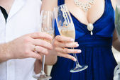 Wedding glasses — Foto de Stock