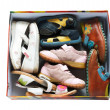 Used children shoes in box — Stock Photo