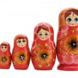 Red matrioshka — Foto de Stock