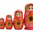 Red matrioshka — Foto Stock