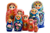 Matrioshka on white — Stock Photo