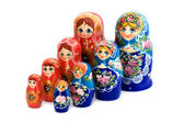 Matrioshka on white close up — Stock Photo