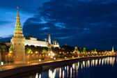 Tower Moscow Kremlin and river — Stock Photo