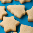 Stock Photo: Biscuits on blue close up