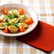 Stock Photo: Pelmeni on plate