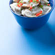 Stock Photo: Pelmeni on blue