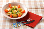 Pelmeni on the plate close up — Stock Photo