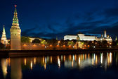 Russia Kremlin and river in Moscow close up — Stock Photo