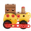 Toy locomotive on white — Stock Photo #6288543