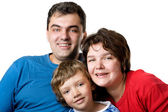 Casual portrait of a young family — Stock Photo