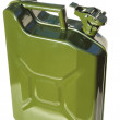 Stock Photo: Fuel green canister