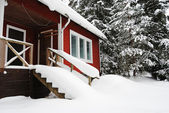 Small country house in Finland — Stock Photo
