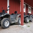 Stock Photo: Three ATVs outdoor
