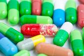 Isolated Pills — Stockfoto