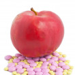 Apple Means Vitamins — Stock Photo