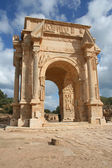 Arch in ancient Leptis Magna Libya — Stock Photo