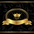 Royal background with golden frame - Stock Vector