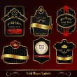 Decorative dark gold frames labels — Stock Vector