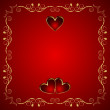 Valentine greeting card with heart — Vector de stock