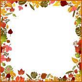 Background autumn frame — Stock Vector