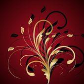 Floral background — Vector de stock