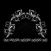 Ilustrace bílé květinové vinobraní pozadí — Stock vektor