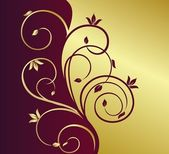Illustration floral background — Stock Vector