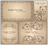 Set a decorative VINTAGE — Stock Vector