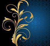 Illustration floral background card — Stock Vector