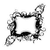 Illustration the floral black decor element for design — Stock Vector