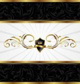 Ornate golden decorative frame — Stock Vector