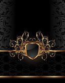 Golden ornate frame for design — Stock Vector