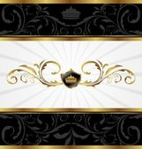 Ornate golden decorative frame — Stock Vector