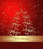 абстрактный рождественская елка — Cтоковый вектор