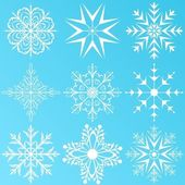 Set variation snowflakes isolated — Stock Vector