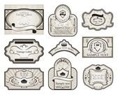 Set retro variation vintage labels (2) — Stock vektor